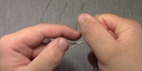 Отступаем от последнего завязанного узла еще 10-15 см