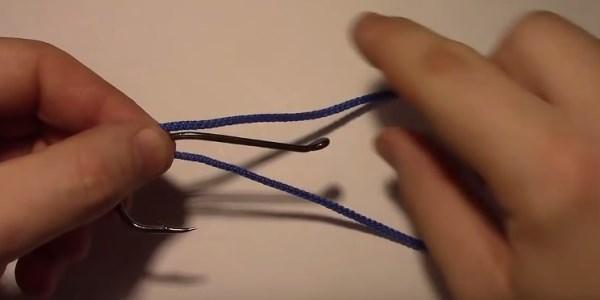 Прикладываем петлю к цевью