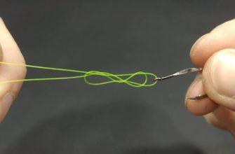 Как сделать петлю на леске