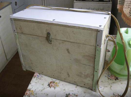 Ящик для зимней рыбалки из дерева