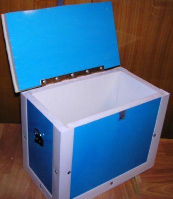 Ящик для зимней рыбалки из пенопласта